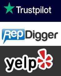 trustpilot, yelp, repdigger