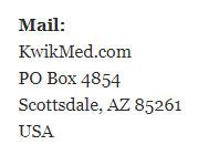 PO Box 4854 Scottsdale, AZ 85261 USA