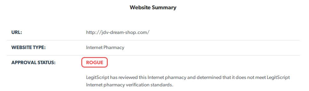 rogue pharmacy site