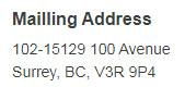 mail address