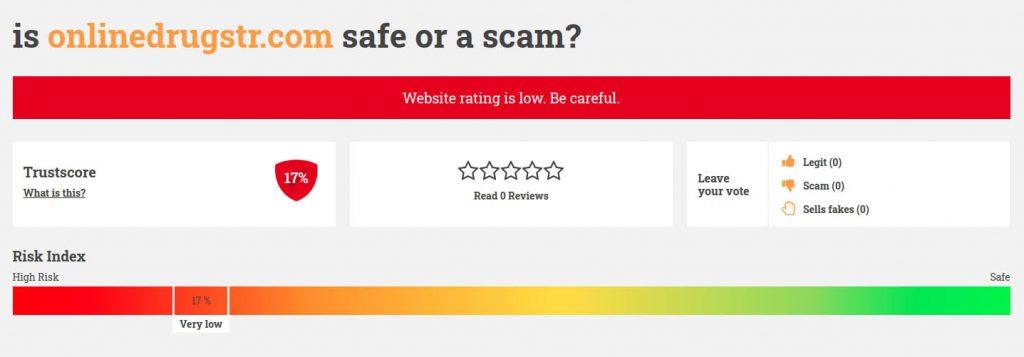 low trust score