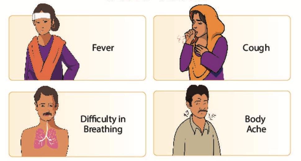 fever, cough