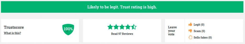 100% of trust